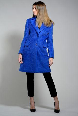 cappotto bluette effetto alpaca Angelico