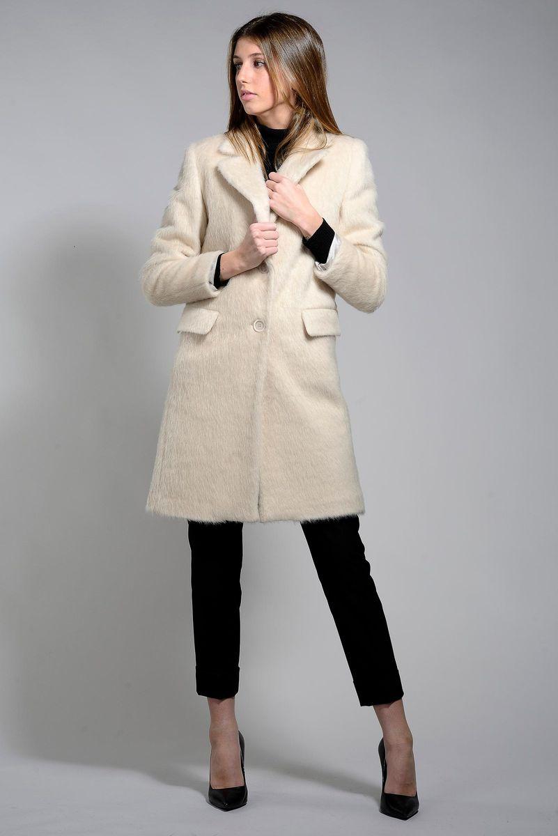 cappotto panna effetto alpaca Angelico