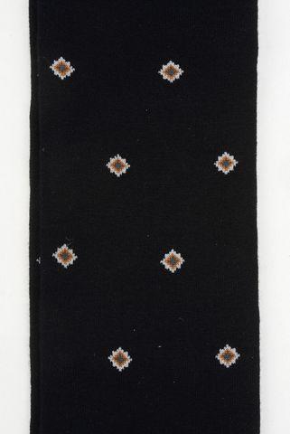 black socks brown rhombus pattern warm cotton Angelico