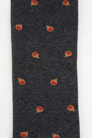gray socks with beige chestnut pattern warm cotton Angelico