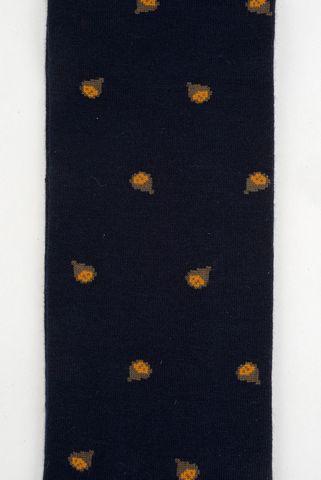 blue socks grey chestnut pattern warm cotton Angelico