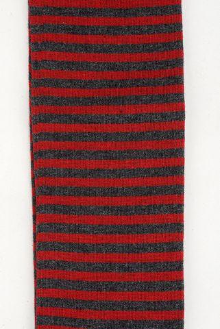 grey-red socks fine stripes warm cotton Angelico