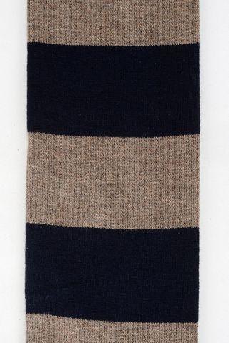 blue-beige socks wide stripes warm cotton Angelico