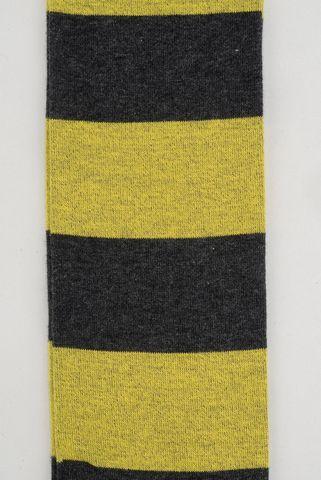 grey-yellow socks wide stripes warm cotton Angelico
