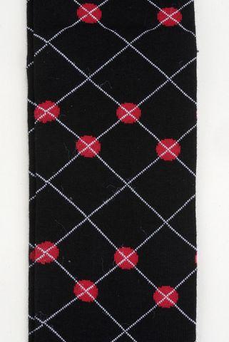 black socks grey rhombus warm cotton Angelico