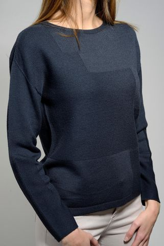 dark grey merino boat sweater Angelico