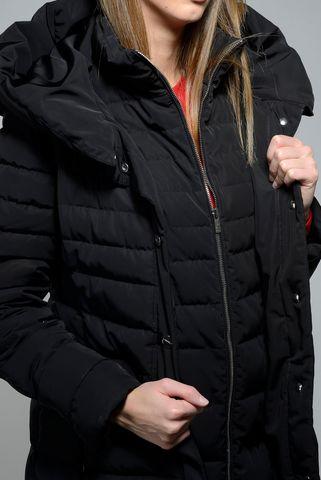 black hooded eco-down over jacket marella Angelico
