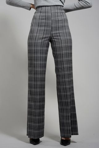 pantalone grigio scozzese zampa emme Angelico