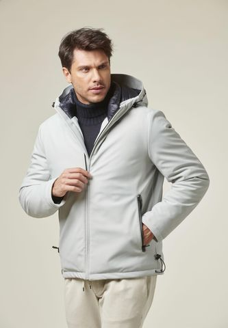 ice short hooded eavy jacket eco-down Angelico