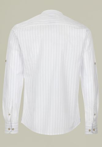 camicia bianca coreana gessata grigia Angelico