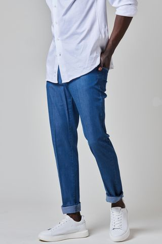 jeans with pockets with profiles slim Angelico