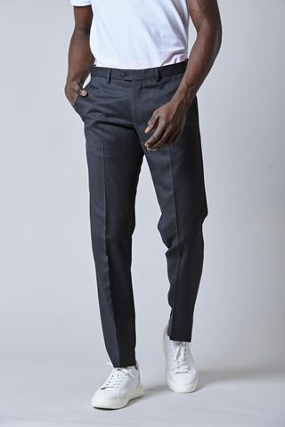 Dark gray wool trousers Angelico