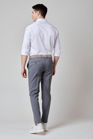 medium gray wool trousers Angelico