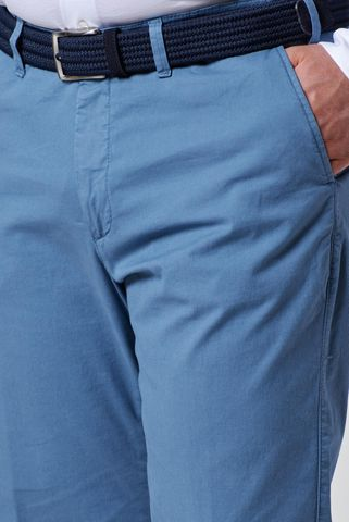 azure stretch cotton trousers comfort Angelico
