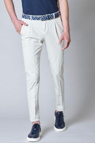 pantalone ghiaccio raso 1pince e risvolto slim Angelico