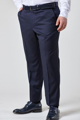 pantalone blu 100s four seasons comodo Angelico