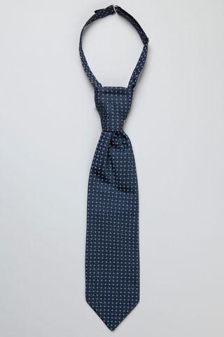 blue satin plastron Angelico