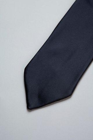 dark blue plastron satin Angelico