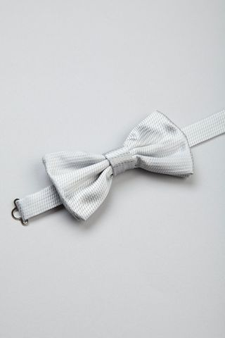 pearl grey bow tie patterned Angelico