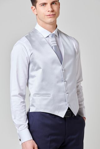 pearl grey waistcoat patterned Angelico