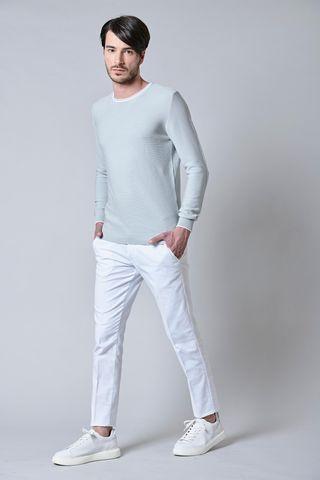 maglia grigia bordino bianco cotone Angelico