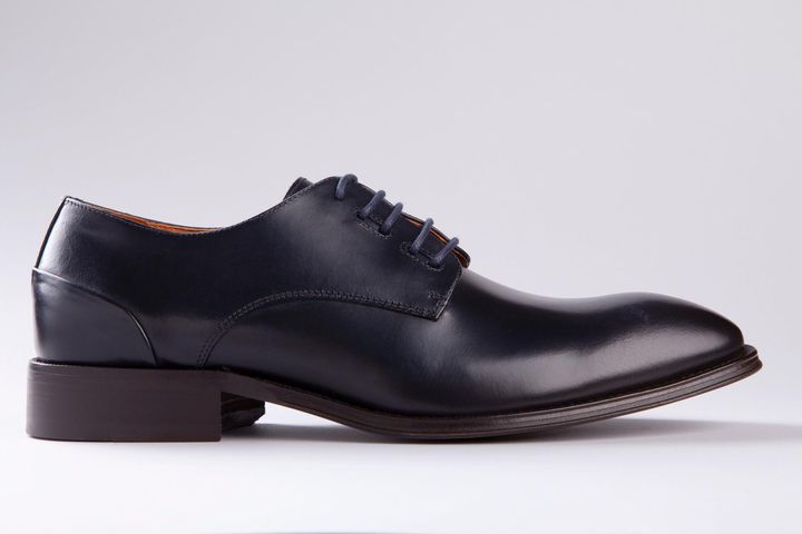 scarpa blu derby pelle Angelico