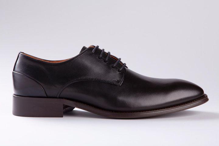 scarpa nera derby pelle Angelico