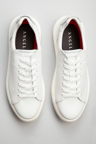 white sneaker perforated leather Angelico