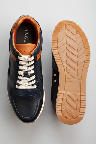 blue leather sneaker Angelico