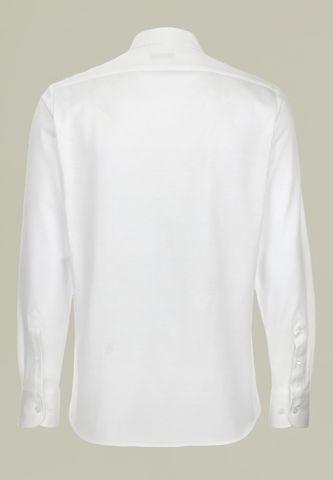 camicia bianca pique manica lunga filo scozia Angelico