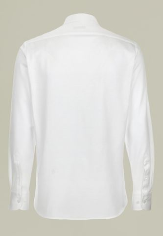 white shirt lisle pique long sleeves Angelico