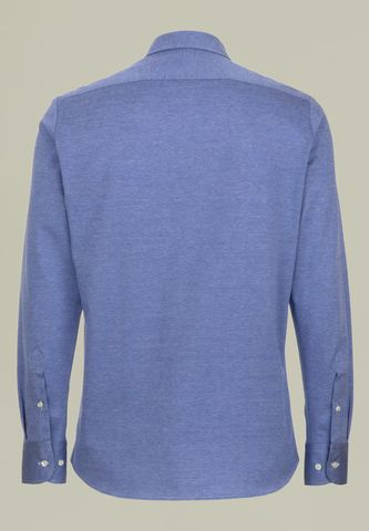 light blue shirt lisle pique long sleeves Angelico