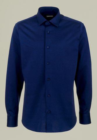 camicia blu pique manica lunga filo scozia Angelico