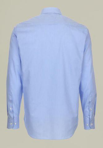 camicia azzurra microriga collo francese Angelico