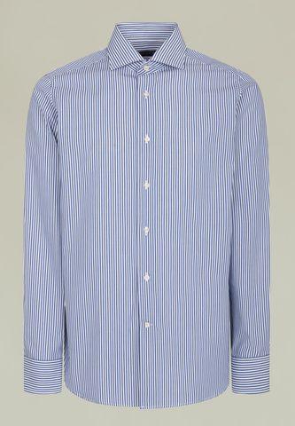 camicia blu-bianca rigata media francese Angelico