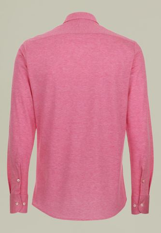 pink long sleeves polo shirt pique Angelico