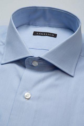 camicia azzurra piedepoule slim Angelico