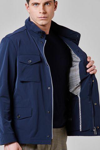 windproof blue saharan 4 pockets Angelico