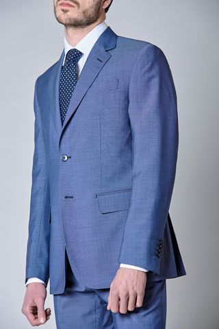 bluette suit merino wool structured Angelico