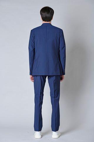abito blu chiaro gessato azzurro merino Angelico
