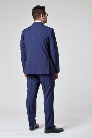 abito blu gessato fine comodo merino Angelico
