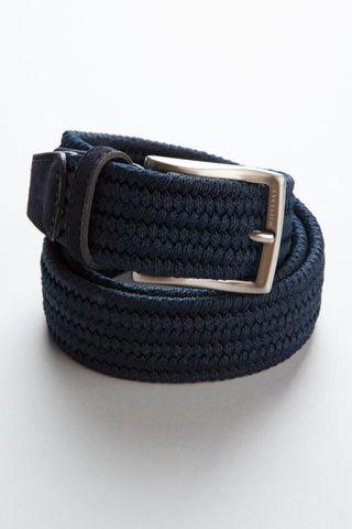 navy braided elastic belt Angelico