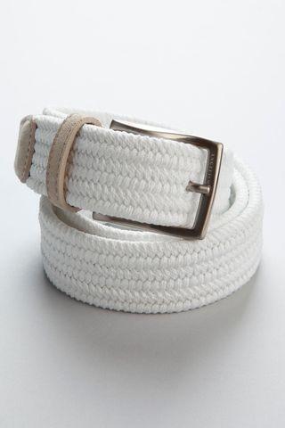 white braided elastic belt Angelico