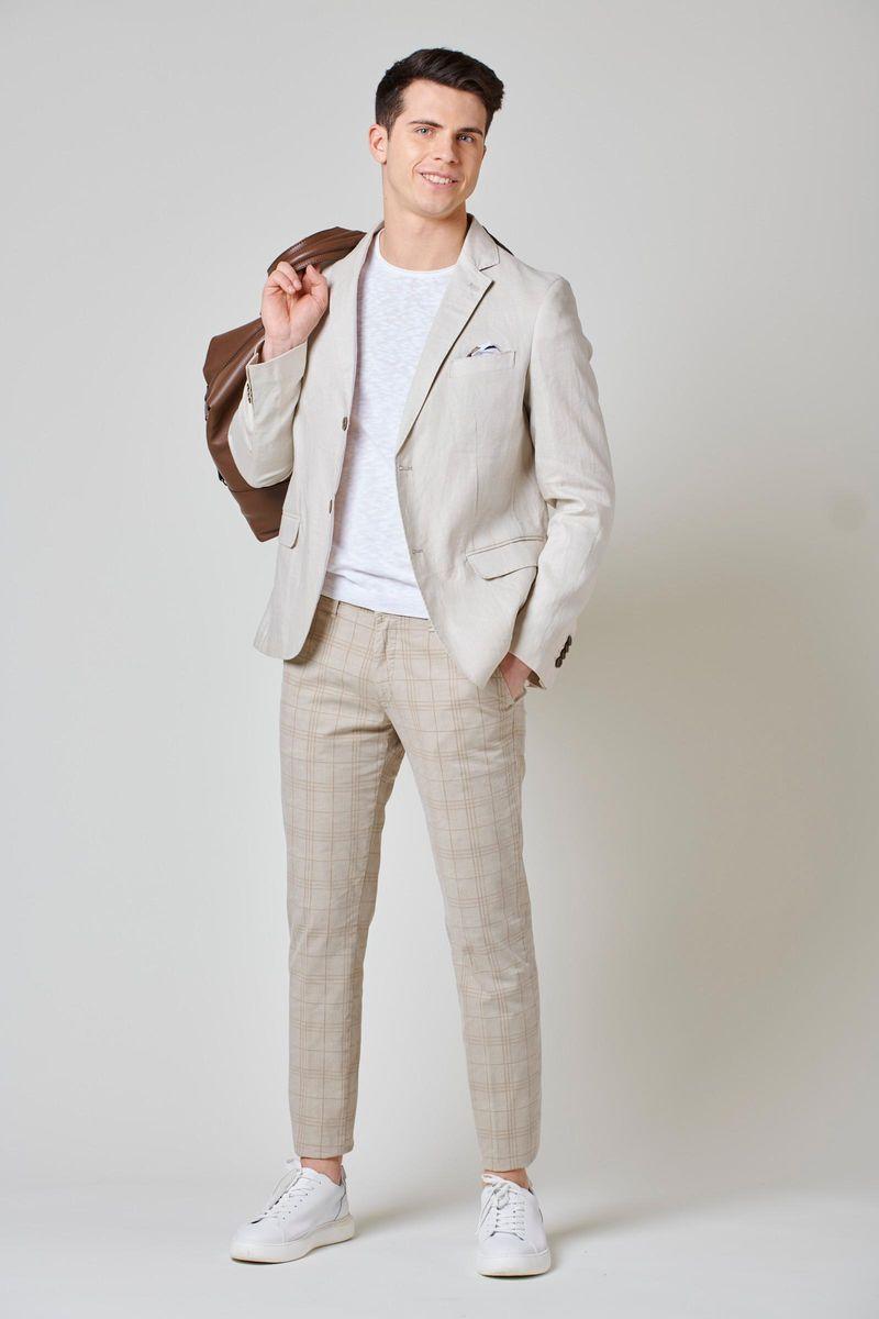 giacca lino naturale sfoderata Angelico