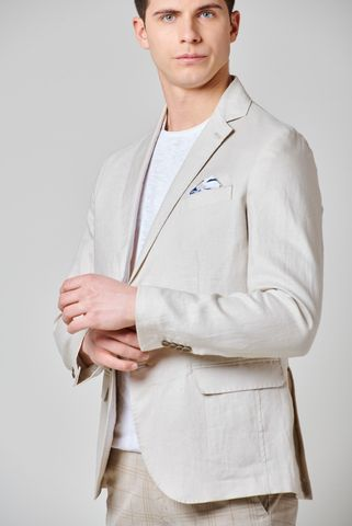 natural linen jacket Angelico