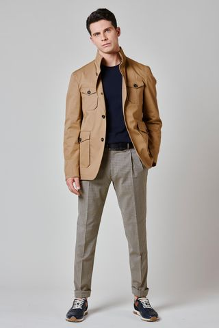camel sport jacket 4 pockets Angelico
