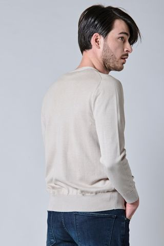 cardigan naturale cotone-seta bottoni Angelico