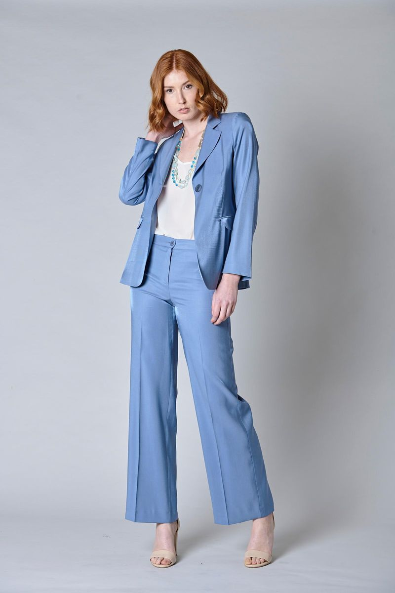 long sugar blue jacket one button Angelico