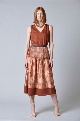 wide floral brick skirt Angelico
