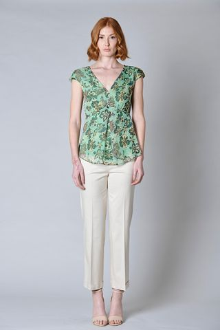 green floral top Angelico